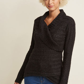 The Layer the Land Long Sleeve Sweater in Pepper