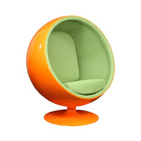 Bright Future Lounge Chair in Green on Orange