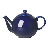 Cobalt Blue Eight-Cup Globe Teapot