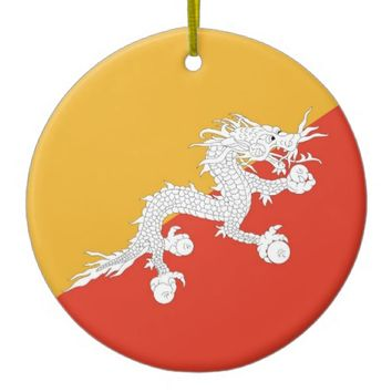 Ornament with flag of Bhutan
