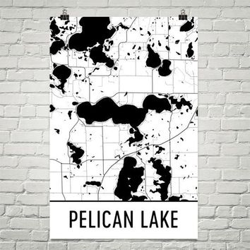 Pelican Lake MN Art and Maps