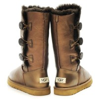 UGG Women Fashion Leather Half Boots Snow Boots Shoes