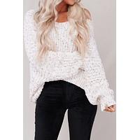Serena Pullover POL Sweater (White Multi)