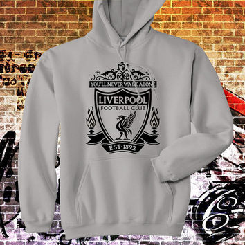 """Hoodie Liverpool FC Logo Hoodie, Men Hoodie, All Color Available {Size Print 12""""X12""""}"""