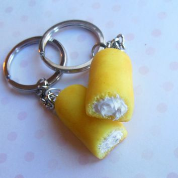 Twinkie Best Friend Polymer Clay Key Chain BFF Set