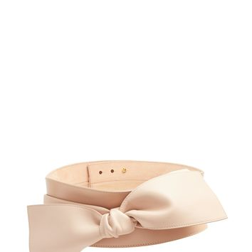 Wide bow-embellished leather waist belt | Alexander McQueen | MATCHESFASHION.COM US