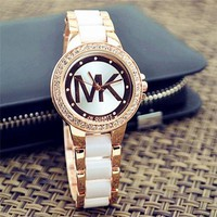 MK Hot Vintage Fashion Quartz Classic Watch Round Ladies Women Men wristwatch On Sales Jovial Day-First™