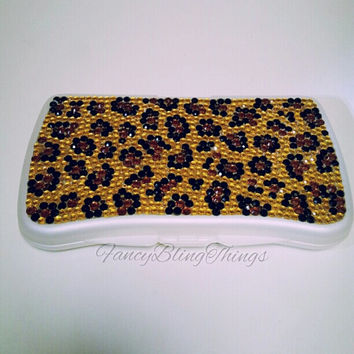 Bling Leopard Baby Wipe Case