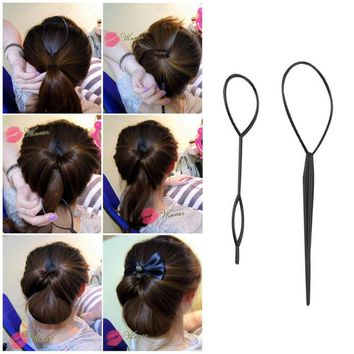 BEAUTYF™ Plastic Pull Hair Pin Ponytail Maker Styling Tool