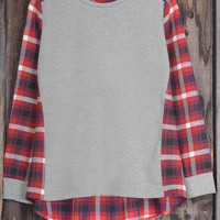 Cupshe Perfect Pattern Plaid High Low Top