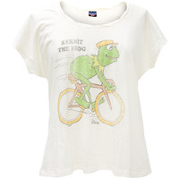 Muppets - Biking Kermit Juniors Plus Size Jetsetter T-Shirt