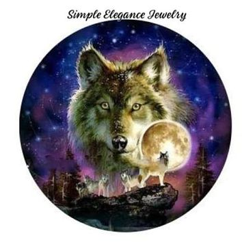 Wolf Snap 20mm for Snap Charm Jewelry