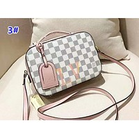 Louis Vuitton Women's fashion casual color matching checkerboard camera bag small square bag shoulder bag 3#