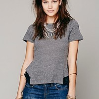 Free People Womens Tulip Lace Tee -