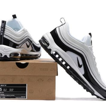 nike air max 97 men sport casual fashion multicolor stitching patent leather air cushion running shoes sneakers
