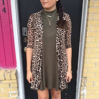 Leopard cardigan from PeaceLove&Jewels