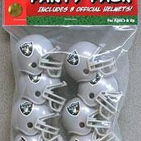 Oakland Raiders Team Helmet Party Pack
