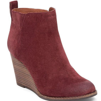 Wine Yezzah Wedge Bootie By Lucky Brand
