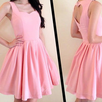 Back open heart dress made to order in size S M L