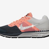 NIKE AIR PEGASUS+ 30 shoes w/Swarovski Crystals detail - Atomic Pink/Armory Slate/Pear
