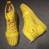 Cl Christian Louboutin Louis Spikes Style #1842 Sneakers Fashion Shoes - Sale