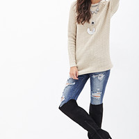 FOREVER 21 Oversized Open-Knit Sweater