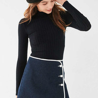 BDG Denim Piping Mini Skirt | Urban Outfitters