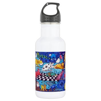 Cat Cocktail Colourful Cat Design Stainless Steel Water Bottle