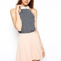AX Paris | AX Paris Gingham Sleeveless Top with Collar at ASOS