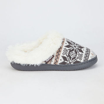 Star Snowflake Womens Slippers Vanilla  In Sizes