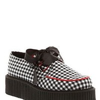 T.U.K. Gingham Heart D-Ring Mondo Sole Creepers - 744992