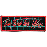 Pink Floyd Men's Embroidered Patch Red