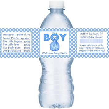 21 Its A Boy Baby Shower Water Bottle Labels