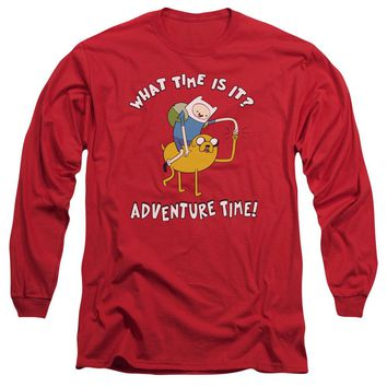 Adventure Time - Ride Bump Long Sleeve Adult 18/1 Officially Licensed Shirt