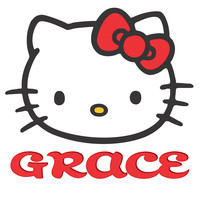 Personalized Custom NAME T-shirt Hello Kitty