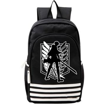 Japanese Anime Bag Shingeki no Kyojin Scouting Legion Oxford Schoolbag Attack on Titan Japan  Cosplay Backpack Shoulders Bag Boys Girls Gift AT_59_4
