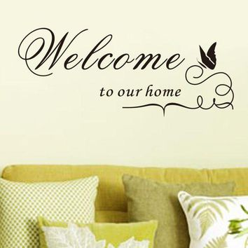 ac NOOW2 2016 Wall Stickers Removable Vinyl Decal Wall Sticker Welcome to our home Home Decor XT