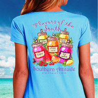 Southern Attitude Preppy Flavors Of The South T-Shirt