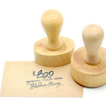 Design Your Own Custom Rubber Stamp with Wooden Handle