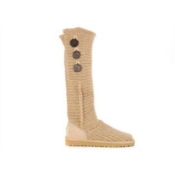 Ugg Boots Cyber Monday 2016 Knit Classic Cardy 5819 Sand For Women 81 14