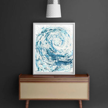 Wave I Print - Light 8X10 version;Waves, the great wave, great wave, ocean, ocean art, ocean print, ocean decor, sea print, sea painting,sea