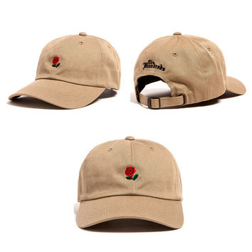 he Hundreds Rose Strap Cap Adjustable Golf Snapback Baseball Hat