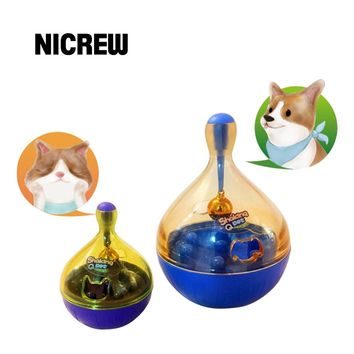 Nicrew Tumbler Cat Pet Toy Feed Ball Interactive Toys Food Dispensing Dog Toy Shaking Food Leakage Toys Feeder Pet Accessories