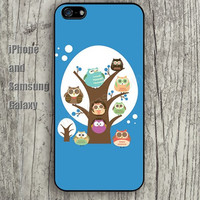 colorful cartoon owl case iphone 6 6 plus iPhone 5 5S 5C case Samsung S3,S4,S5 case Ipod Silicone plastic Phone cover Waterproof