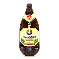 Paulaner Beer melted Bottle Clock - Recycled brown bottle wall clock - Gift for him