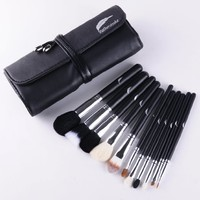 Makeup Brush Set Complete All 11 Essential Brushes with Pouch Professional Desig...
