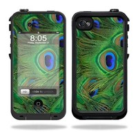 Mightyskins Protective Vinyl Skin Decal Cover for LifeProof iPhone 4 / 4S Case wrap sticker skins Peacock