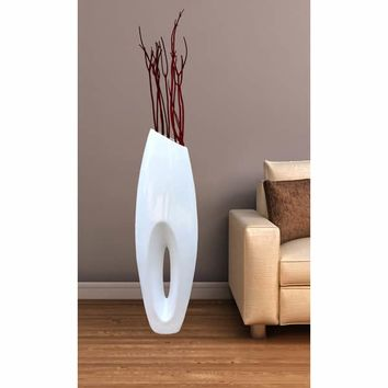 Modern White Large Floor Vase 40 Inch | Overstock.com Shopping - The Best Deals on Vases