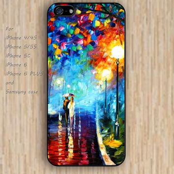 iPhone 6 case chevron Oil painting lovers iphone case,ipod case,samsung galaxy case available plastic rubber case waterproof B209