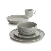 Hue Light Grey Dinner Plate.